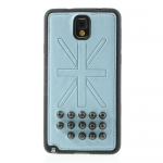 Case Samsung Galaxy Note 3 >> Rivet Union Jack Leather Skin สีฟ้า
