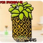 case iphone 4/4s เคสไอโฟน4/4s MOCHINO เคสสับปะรด ซิลิโคน 3D