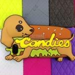 เคส iphone 4 เคสไอโฟน4s HOTDOG น้องหมาพันธุ์ไส้กรอกอยู่ใน hamburger น่ารักๆ ซิลิโคน 3D