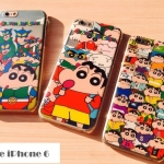 เคส iphone 6 4.7 นิ้ว พลาสติกโปร่งใสสกรีนลายชินจังสุดกวน ราคาถูก -B-