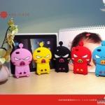 case iphone 4s 4 ซิลิโคน 3D เจ้าหมูน้อยกำลังโมโหทำหน้าโกรธ น่ารักสุดๆ Apple phone shell Cute Angry Piggy iphone4