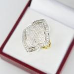 แหวน 9K สี่เหลี่ยมดอกบัว