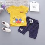 ชุดเซตเสื้อสีเหลือง hello+กางเกงสีกรมท่า [size 6m-1y-18m-2y]