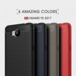 เคสนิ่ม Huawei Y5 2017 รุ่น Carbon Fiber Texture