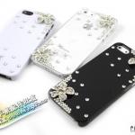 case iphone 5 เคสไอโฟน5 เคสประดับเพชรและดอกไม้น่ารักๆ หรูหรา flowers rhinestones