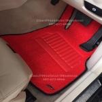 พรมดักฝุ่นปูรถยนต์ Benz E300 W212 สีแดงขอบดำ