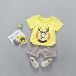 เสื้อ+กางเกง สีเหลือง แพ็ค 4 ชุด ไซส์ 80-90-100-110