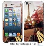 film iphone 4/4s ฟิล์มกันรอยไอโฟน4/4s ฟิล์มกันรอยหน้าหลัง ลายวินเทจ อาร์ตๆ สวยๆ ราคาถูก