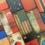 เคสไอโฟน 4/4s case iphone 4/4s ตัวเคสทำจากพลาสติก ลายธงชาติแนวเก่าๆ retro เท่ดี มีหลายประเทศให้เลือก