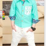 เสื้อ สีเขียว แพค 5 ตัว ไซส์ 100-110-120-130-140