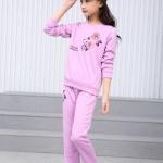 เสื้อ+กางเกง สีม่วง แพ็ค 5 ชุด ไซส์ 110-120-130-140-150