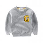 เสื้อกันหนาวสีเทาแต่งตัว G ที่หน้าอก [size 2y-3y-5y-6y]