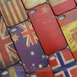 case iphone 5 เคสไอโฟน5 ตัวเคสทำจากพลาสติก เป็นลายธงชาติ ทำให้เป็นแบบเก่าๆ เซอร์ๆ ดูแล้วเท่ดี มีหลายประเทศให้เลือก
