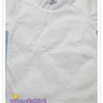 เสื้อยืดเด็กเปล่า สีขาว Size L