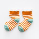ถุงเท้าสั้น สีส้ม แพ็ค 10 คู่ ไซส์ อายุประมาณ 4-6 ปี