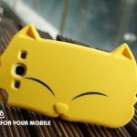 เคส S3 Case Samsung Galaxy S3 เคสซิลิโคน 3D หน้าน้องแมวตาหยี สีหวาน สวยๆ น่ารักมากๆ Korean models Samsung i9300 i9308 protective cover silicone sets big cat face 3D