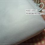 ผ้ากาวแก้ว ใช้แอพพลิเค่และใช้รีดใส่ซับในเพื่อให้กระเป๋าเป็นทรง (ไม่แข็ง) 90 x 150 cm หรือ 1 หลา