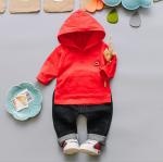 เสื้อ+กางเกง สีแดง แพ็ค 4 ชุด ไซส์ 6-8-10-12 (เหมาะสำหรับ 6ด.-4ปี)