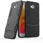 เคส Asus Zenfone 4 Selfie (ZD553KL) เคสกันกระแทกแยกประกอบ 2 ชิ้น ด้านในเป็นซิลิโคนสีดำ ด้านนอกพลาสติกเคลือบเงาโลหะเมทัลลิค มีขาตั้งสามารถตั้งได้ สวยมากๆ เท่สุดๆ ราคาถูก