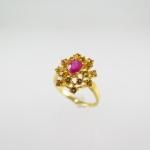 แหวนทับทิม (Ruby silver ring with citrine)