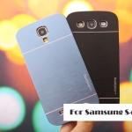 เคส S4 Case Samsung Galaxy S4 i9500 motomo เคสโลหะเงาๆ มีลายเส้นโลหะสวยๆ ด้านในเป็นพลาสติก เคสมือถือ ราคาถูก ขายส่ง