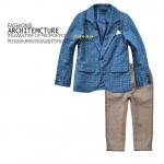 เสื้อสูทเด็กชายสีน้ำเงิน (เฉพาะเสื้อสูทค่ะ) [size 2y-3y-4y-5y-6y]