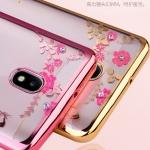 เคส Samsung J5 Pro ซิลิโคน TPU โปร่งใสขอบเงาลายดอกไม้แสนหวาน พร้อมแหวานสุดสวย ราคาถูก (ไม่รวมสายคล้อง)