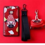 เคส Huawei P9 Plus พลาสติก TPU ลายน้องหมาสุดแนว พร้อมสายคล้องมือและกระเป๋าเก็บสายหูฟัง ราคาถูก