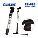"""BETO"" สูบมือ เบโต้ รุ่นมีสาย Mini Floor Pump CO-002. (ด้ามมีเนียม)"