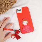เคส OPPO A77 พลาสติกสีแดงหนูน้อยหมวกแดงสดใส พร้อมพู่ห้อย ราคาถูก