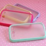 เคส s3 Case Samsung Galaxy s3 III i9300 เคสขอบ TPU นุ่มๆ ด้านหลังโปร่งแสง สี pastel สวยๆ หวานๆ
