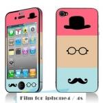 film iphone 4/4s ฟิล์มกันรอยไอโฟน4/4s ฟิล์มกันรอยหน้าหลัง ลายการ์ตูนน่ารักๆ สดใส