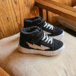 รองเท้าเด็กแฟชั่น สีดำ แพ็ค 5 คู่ ไซส์ 31-32-33-34-35
