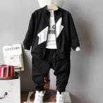 เสื้อัวนอก+เสื้อตัวใน+กางเกง สีดำ แพ็ค 5 ชุด ไซส์ 90-100-110-120-130 (เลือกไซส์ได้)