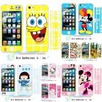 film iphone 5 / 5s ฟิล์มกันรอยไอโฟน5 / 5s สติ๊กเกอร์กันรอย หน้า-หลังและขอบ ลายการ์ตูนน่ารักๆ คิตตี้ มิกกี้เม้าส์ มินนี่เม้าส์ มารูโกะ ชินจัง Spongebob
