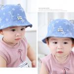 หมวก สีฟ้า แพ็ค 5ใบ ไซส์รอบศรีษะ 50-52CM