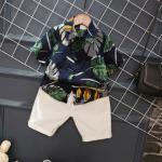 เสื้อ+กางเกง สีกรม แพ็ค 5ชุด ไซส์ 90-100-110-120-130
