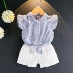 เสื้อ+กางเกง สีฟ้า แพ็ค 5 ชุด ไซส์ 100-110-120-130-140