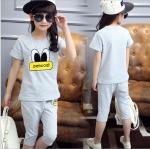 เสื้อ+กางเกง สีเทา แพ็ค 5 ชุด ไซส์ 120-130-140-150-160 (เลือกไซส์ได้)