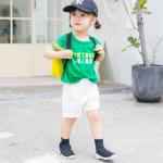 เสื้อ+กางเกง สีเขียว แพ็ค 5ชุด ไซส์ 80cm-90cm-100cm-110cm-120cm