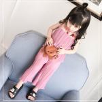เสื้อ+กางเกง สีชมพู แพ็ค 6 ชุด ไซส์ 80-90-100-110-120-130