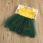 ชุดกระโปรง สีเหลือง แพ็ค 5ชุด ไซส์ 100-110-120-130-140