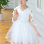 ชุดกระโปรง สีขาว เเพ็ค 6 ชุด ไซส์ 110-120-130-140-150-160