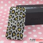case iphone 5 เคสไอโฟน5 เคสลายเสือดาวประดับเพชร หรูหราน่ารักสวยๆ paste drilling Leopard