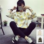 เสื้อแฟชั่นเกาหลี เสื้อกันหนาว สกรีนลายการ์ตูน 2015