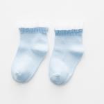 ถุงเท้าสั้น สีฟ้า แพ็ค 10 คู่ ไซส์ อายุประมาณ 7-10 ปี