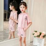 เสื้อ+กางเกง สีชมพู แพ็ค 5 ชุด ไซส์ 120-130-140-150-160