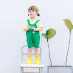 เอี๊ยมกางเกง สีเขียว แพ็ค 5ชุด ไซส์ 80cm-90cm-100cm-110cm-120cm