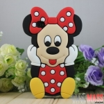 case iphone 4s 4 เคสซิลิโคน 3D Minnie Mouse น่ารักๆ Disney Minnie Silicone Case