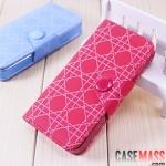 case iphone 5 เคสไอโฟน5 เคสกระเป๋าหนังลายตารางหมากรุกสีสวยน่ารักๆ iPhone5 Plaid holster